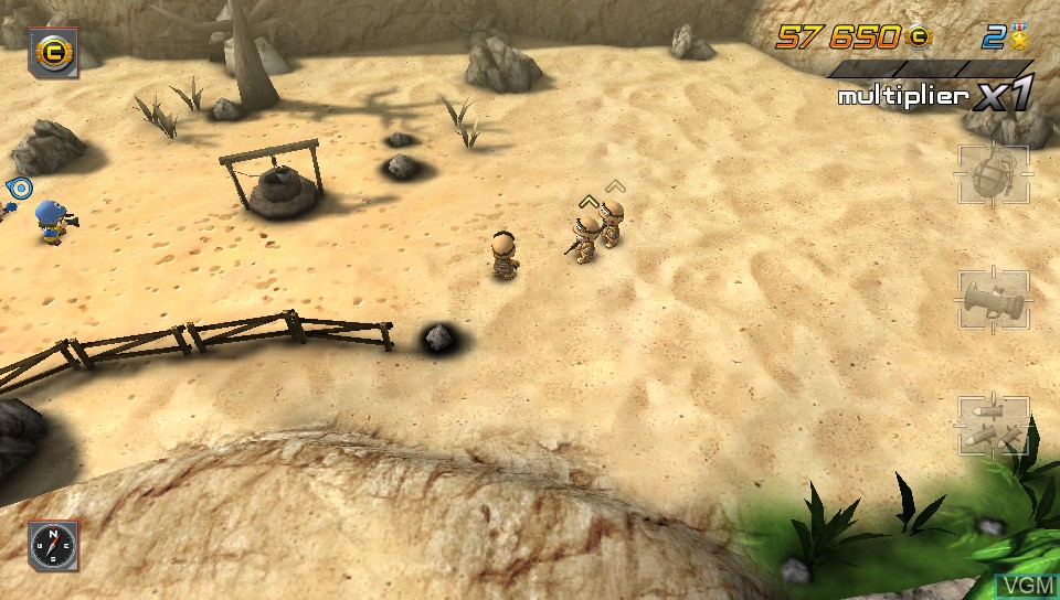 In-game screen of the game Tiny Troopers - Joint Ops on Sony PS Vita