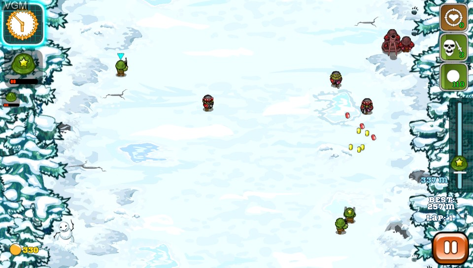In-game screen of the game Battalion Commander on Sony PS Vita