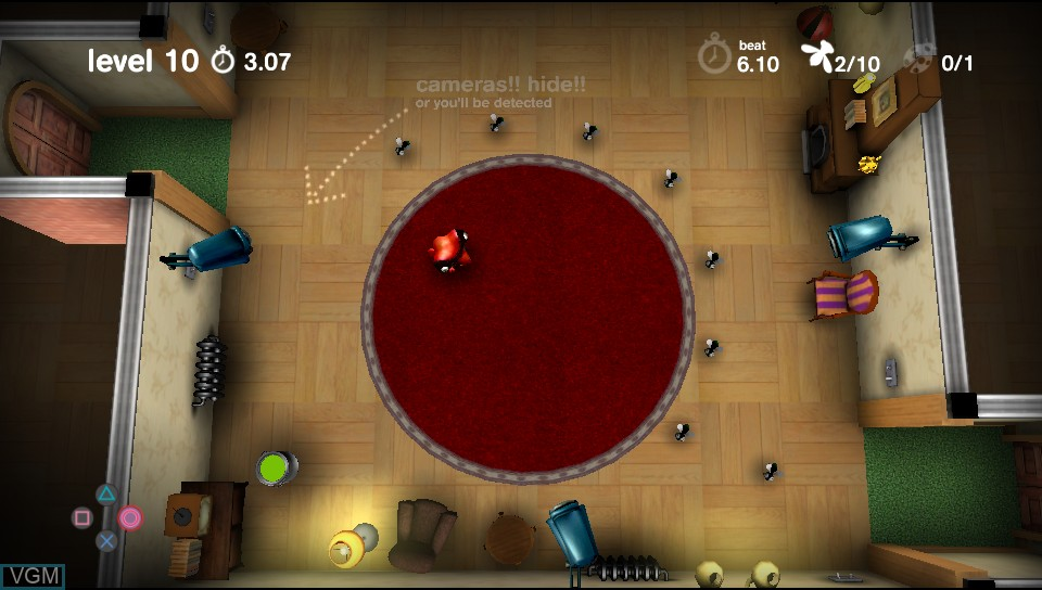 In-game screen of the game Spy Chameleon on Sony PS Vita