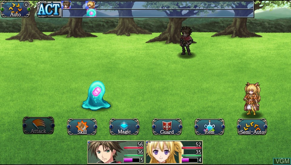 In-game screen of the game Asdivine Hearts on Sony PS Vita