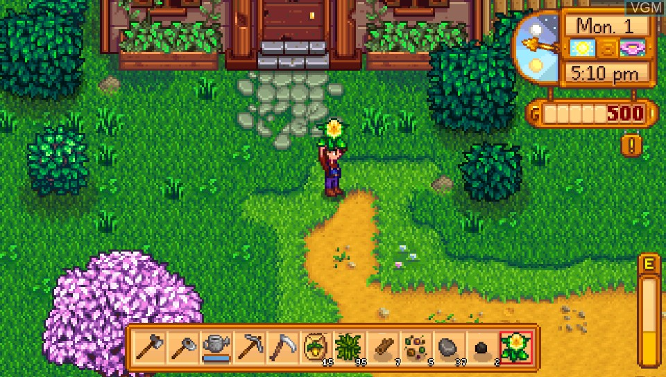 In-game screen of the game Stardew Valley on Sony PS Vita