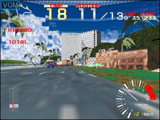 In-game screen of the game Ridge Racer on Vivanonno