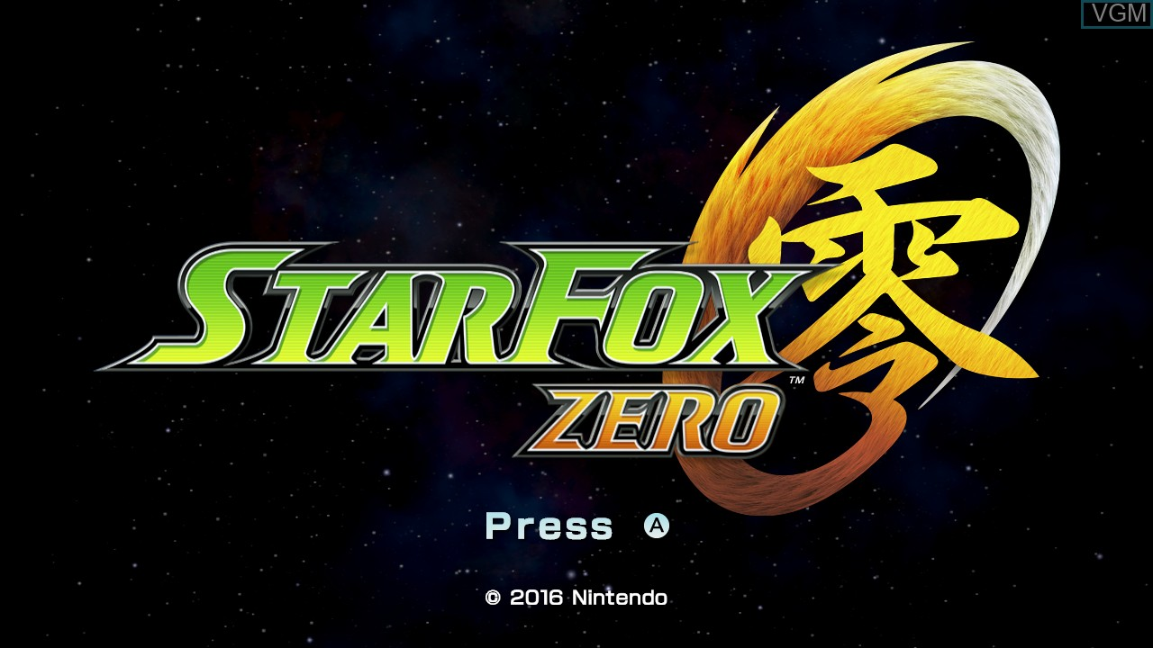 Title screen of the game Star Fox Zero on Nintendo Wii U