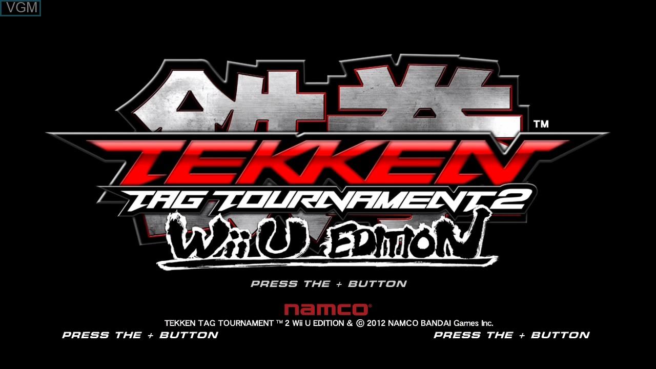 Title screen of the game Tekken Tag Tournament 2 - Wii U Edition on Nintendo Wii U