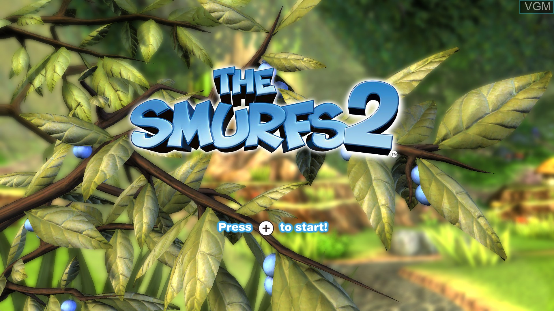 Title screen of the game Smurfs 2, The on Nintendo Wii U