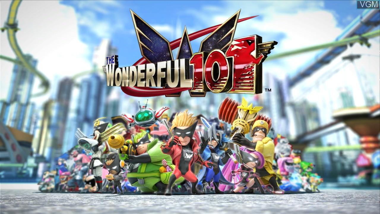 Title screen of the game Wonderful 101, The on Nintendo Wii U