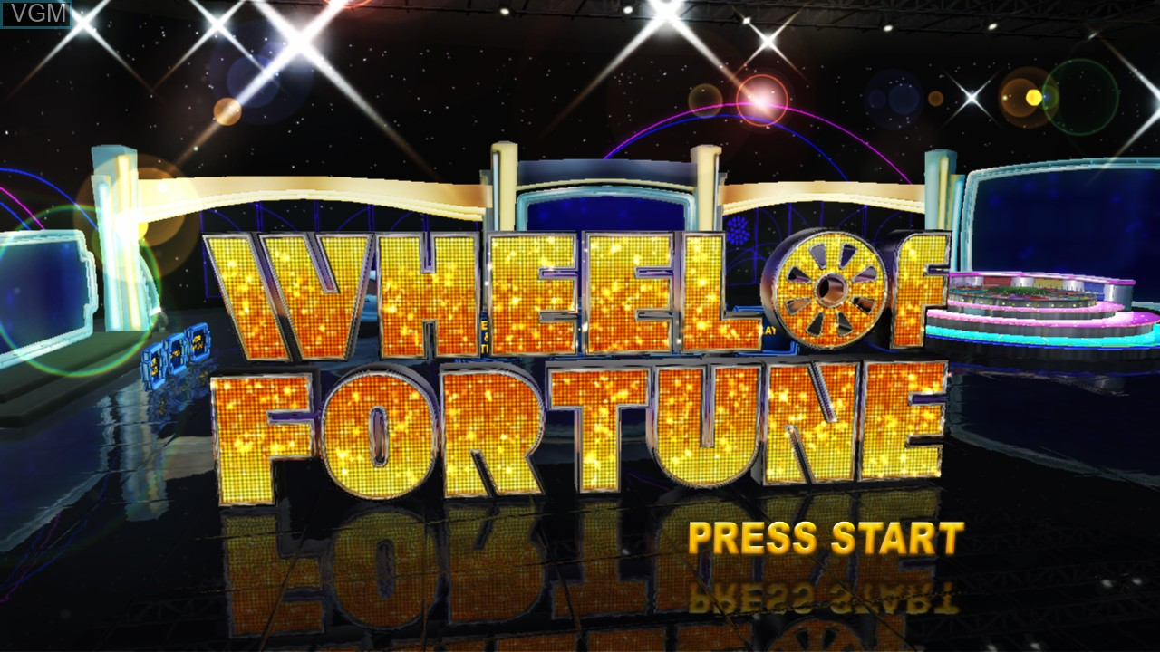 Title screen of the game Wheel of Fortune on Nintendo Wii U