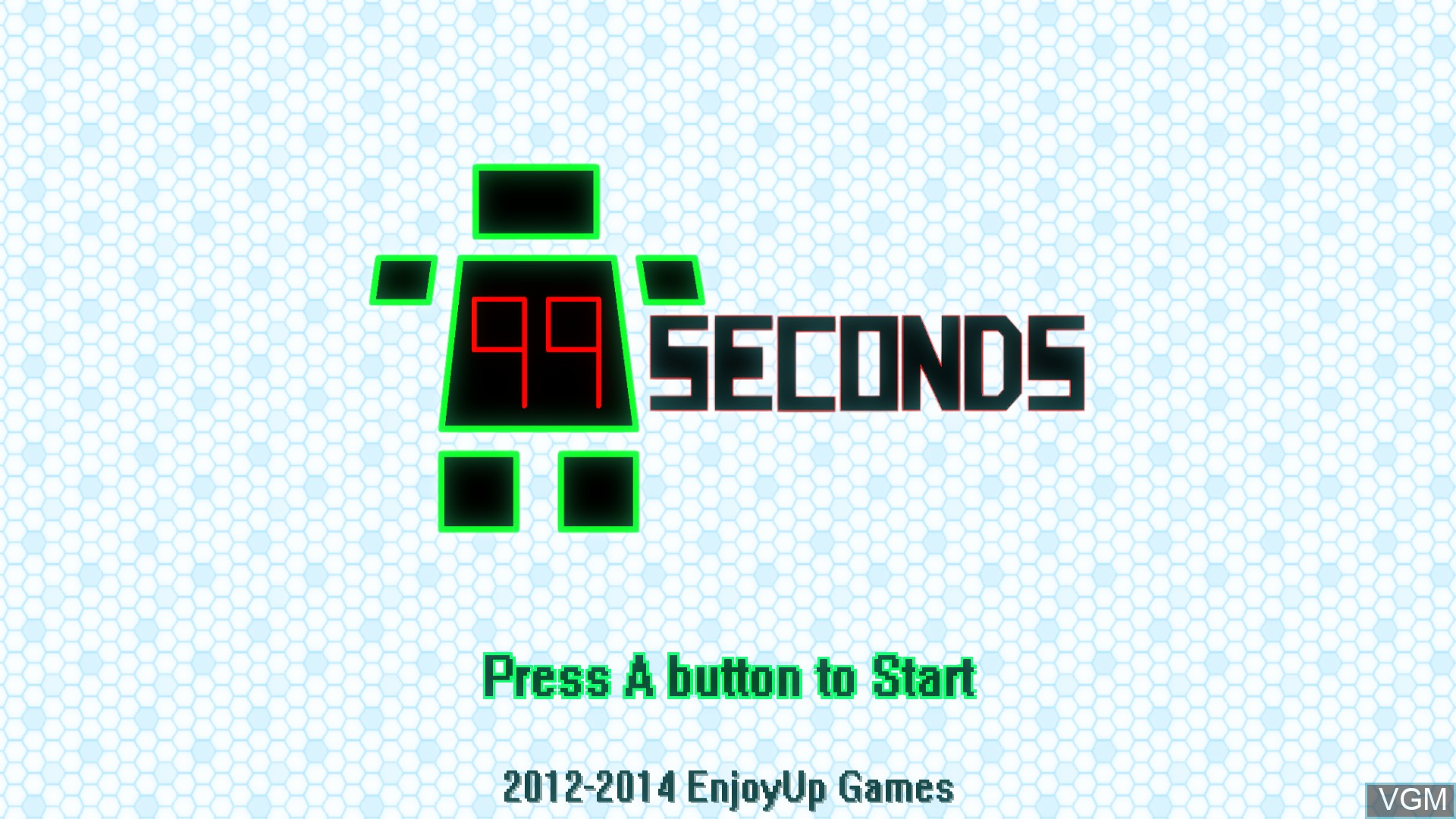 Title screen of the game 99Seconds on Nintendo Wii U