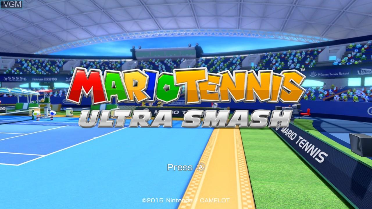Title screen of the game Mario Tennis - Ultra Smash on Nintendo Wii U