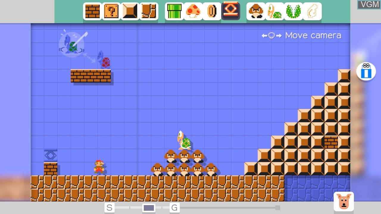 Menu screen of the game Super Mario Maker on Nintendo Wii U