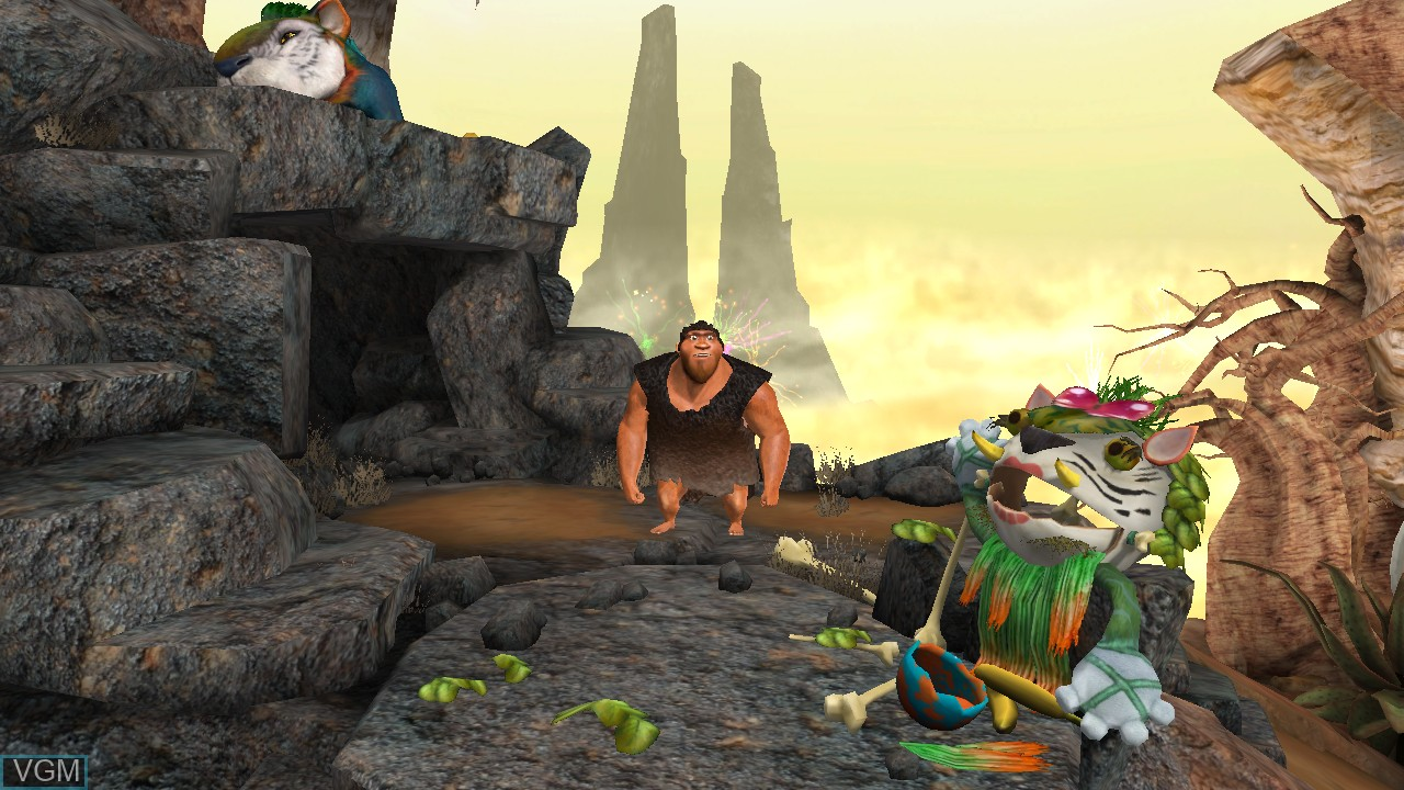 Menu screen of the game Croods, The - Prehistoric Party! on Nintendo Wii U