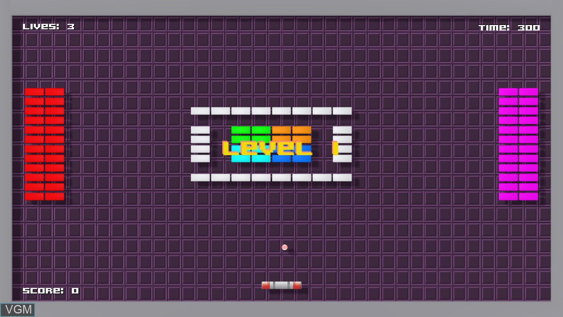 Menu screen of the game 360 Breakout on Nintendo Wii U
