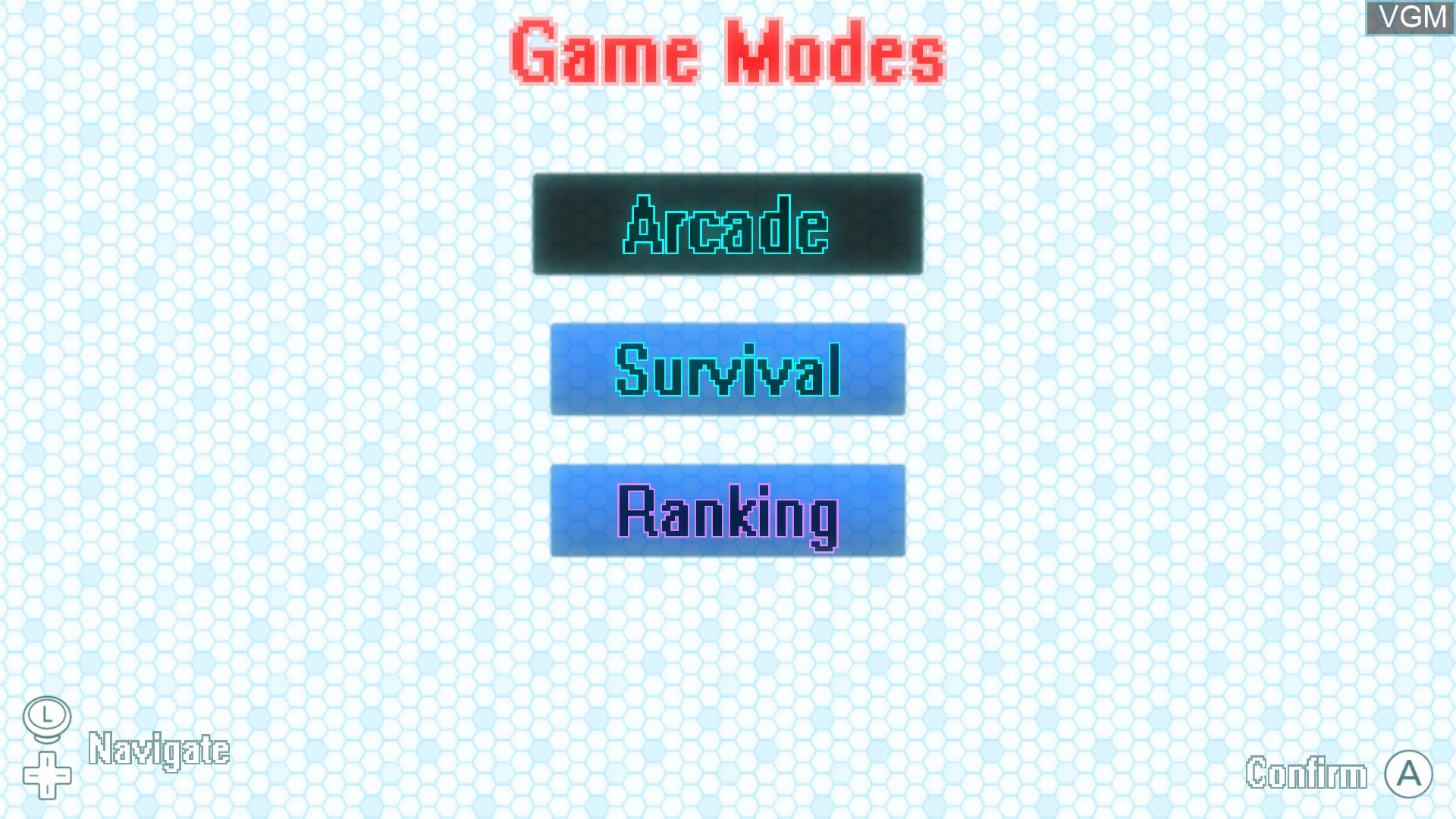 Menu screen of the game 99Seconds on Nintendo Wii U