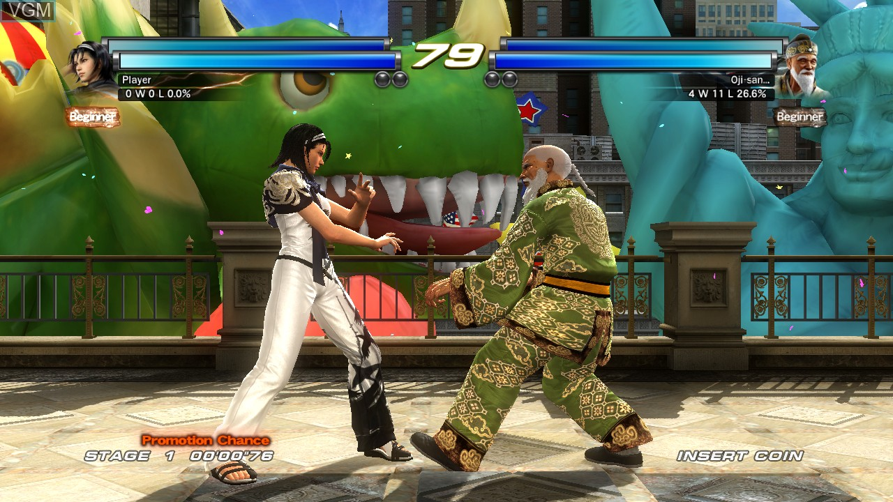 In-game screen of the game Tekken Tag Tournament 2 - Wii U Edition on Nintendo Wii U