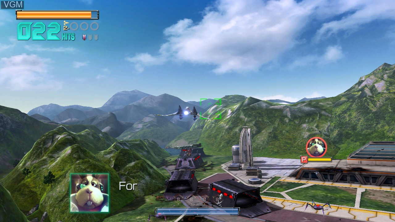 In-game screen of the game Star Fox Zero on Nintendo Wii U