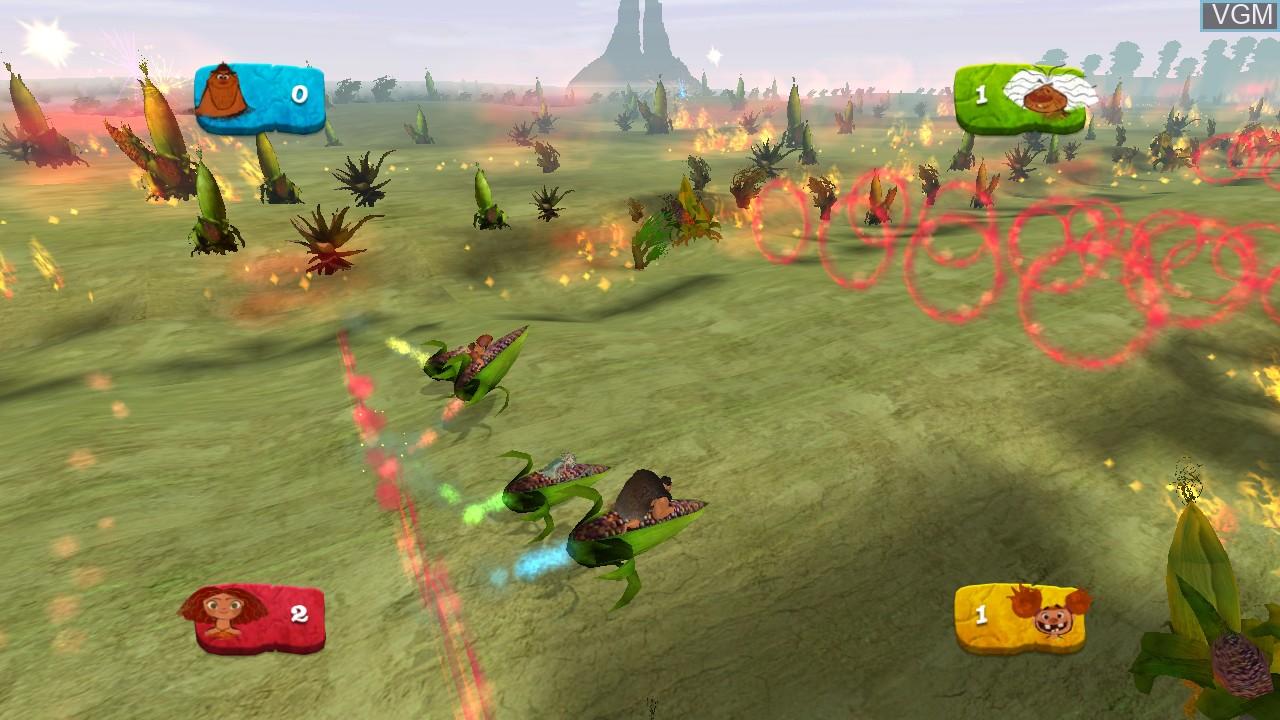 In-game screen of the game Croods, The - Prehistoric Party! on Nintendo Wii U