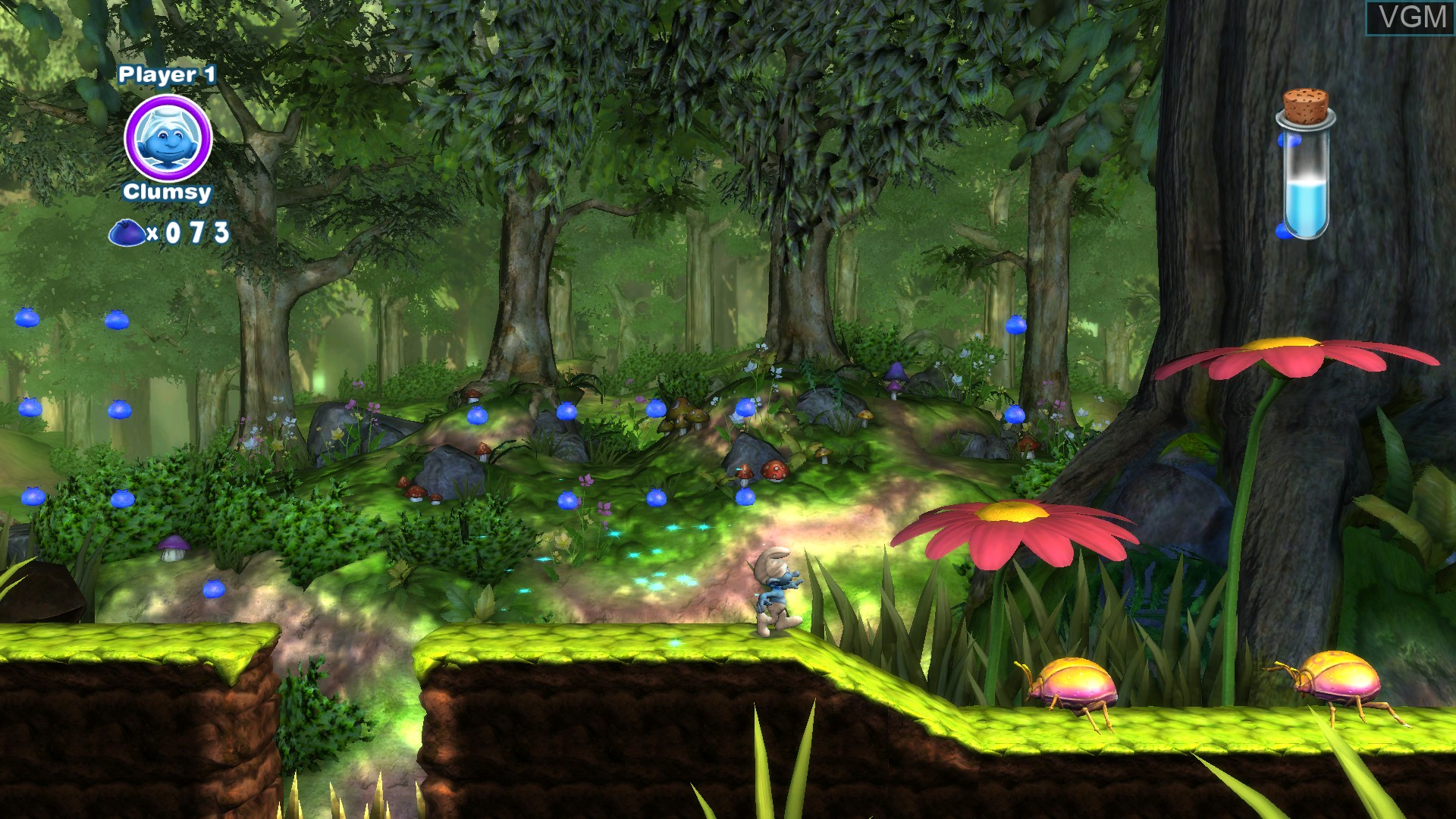 In-game screen of the game Smurfs 2, The on Nintendo Wii U