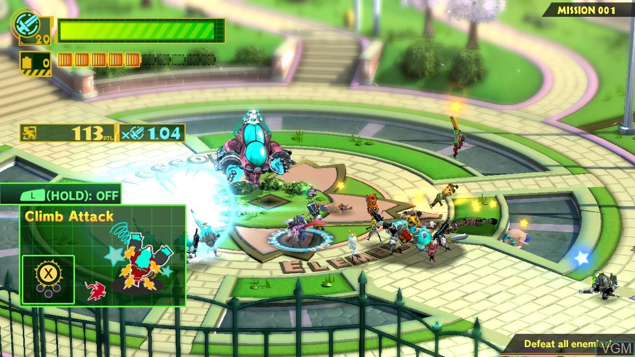 In-game screen of the game Wonderful 101, The on Nintendo Wii U