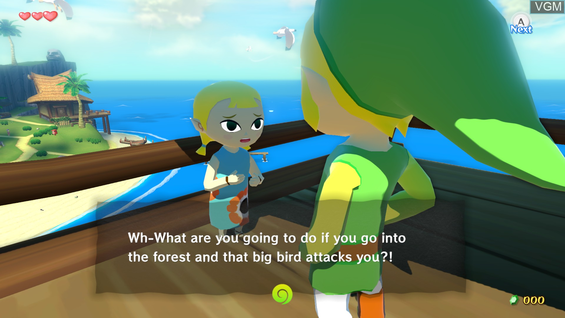 In-game screen of the game Legend of Zelda, The - The Wind Waker HD on Nintendo Wii U