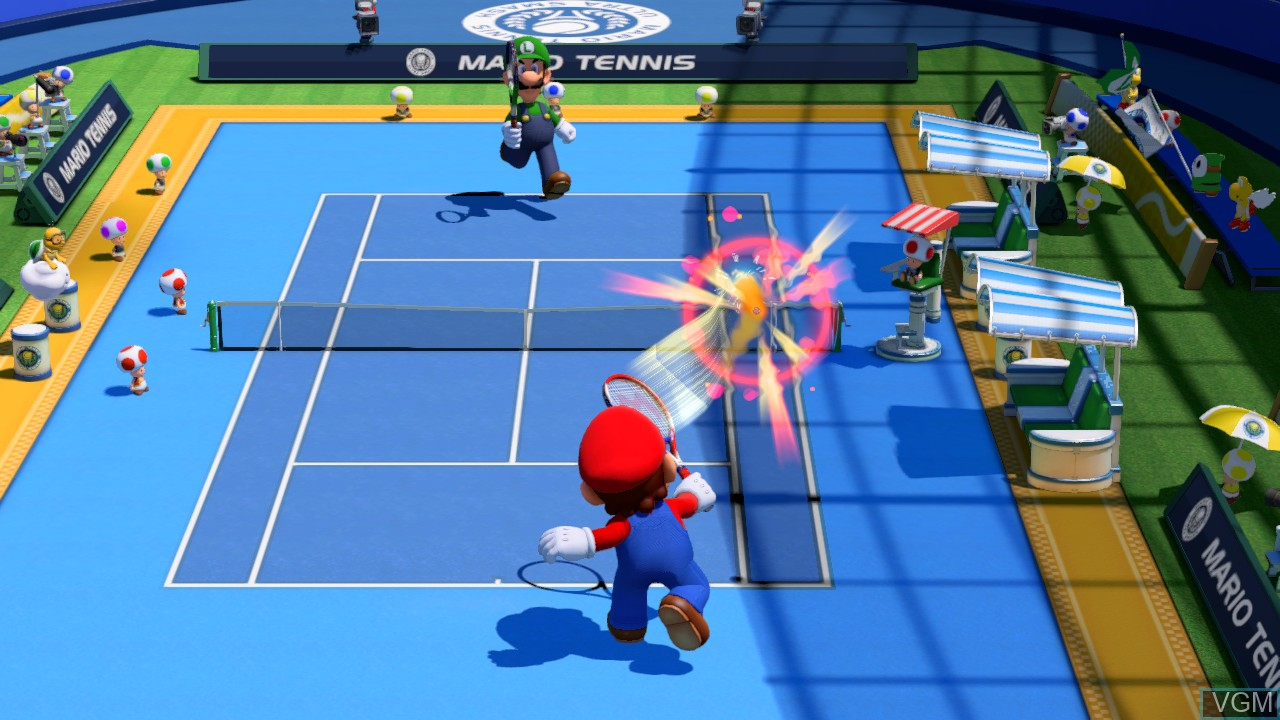 In-game screen of the game Mario Tennis - Ultra Smash on Nintendo Wii U