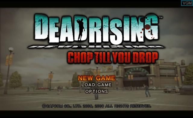 Title screen of the game Dead Rising - Chop Till You Drop on Nintendo Wii