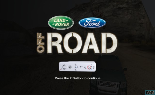 Title screen of the game Off Road on Nintendo Wii