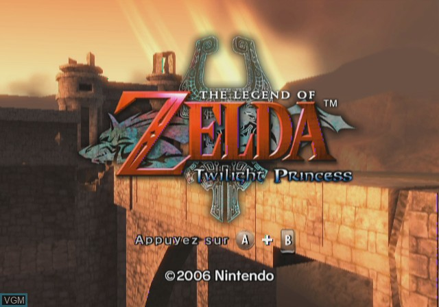 Title screen of the game Legend of Zelda,The - Twilight Princess on Nintendo Wii
