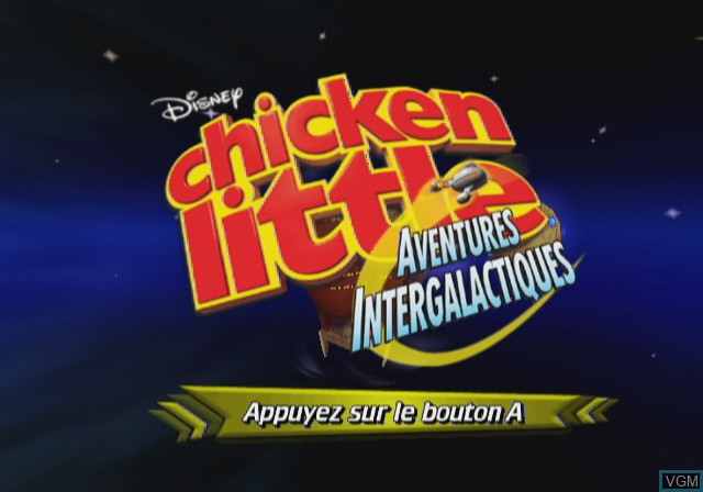Title screen of the game Chicken Little - Ace in Action on Nintendo Wii