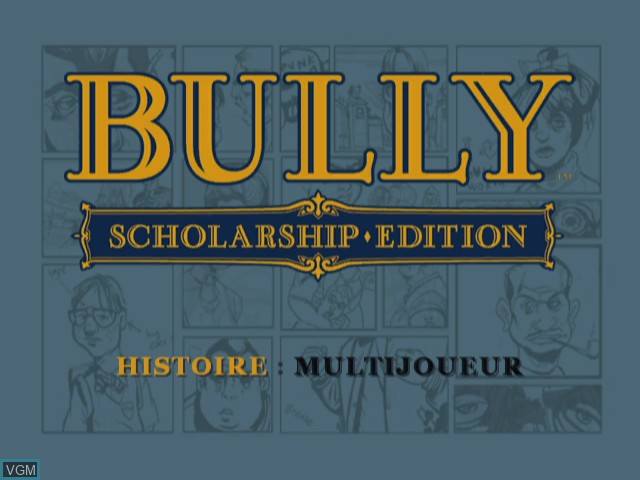 Title screen of the game Bully - Scholarship Edition on Nintendo Wii