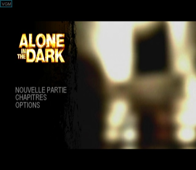 Title screen of the game Alone in the Dark on Nintendo Wii