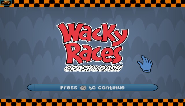 Title screen of the game Wacky Races - Crash & Dash on Nintendo Wii