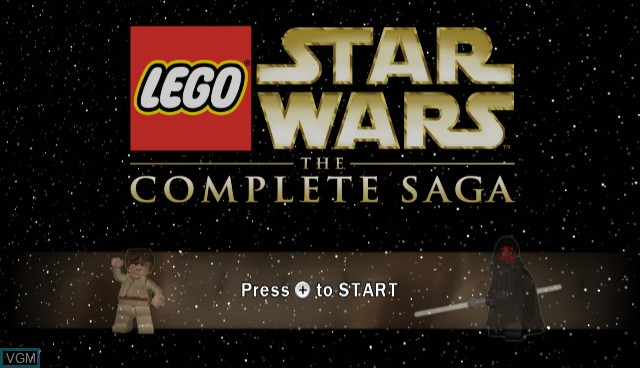 Title screen of the game Lego Star Wars - The Complete Saga on Nintendo Wii