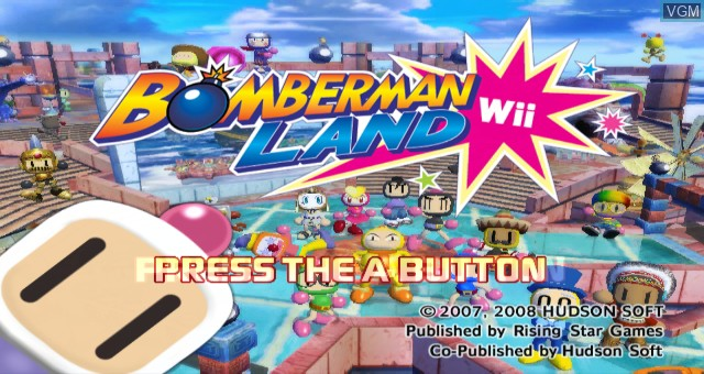 Title screen of the game Bomberman Land Wii on Nintendo Wii