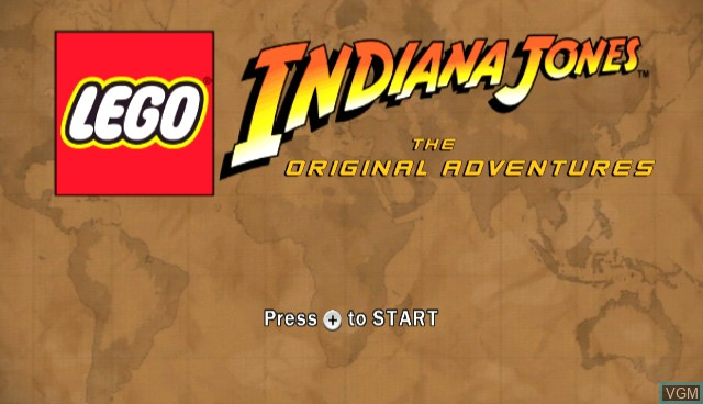 Title screen of the game Lego Indiana Jones - The Original Adventures on Nintendo Wii