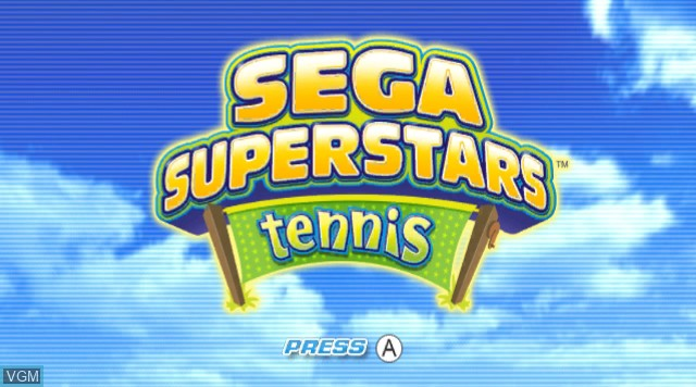 Title screen of the game Sega Superstars Tennis on Nintendo Wii