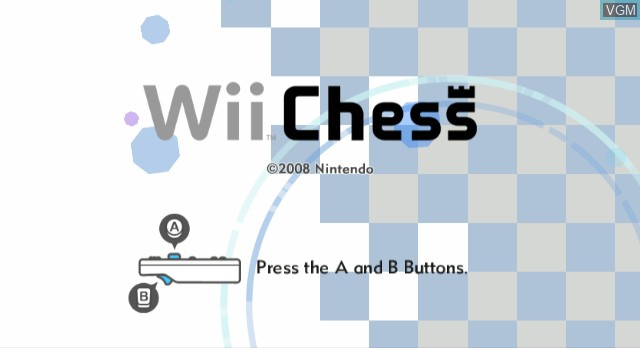 Title screen of the game Wii Chess on Nintendo Wii