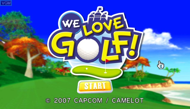Title screen of the game We Love Golf! on Nintendo Wii