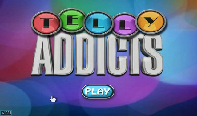 Title screen of the game Telly Addicts on Nintendo Wii
