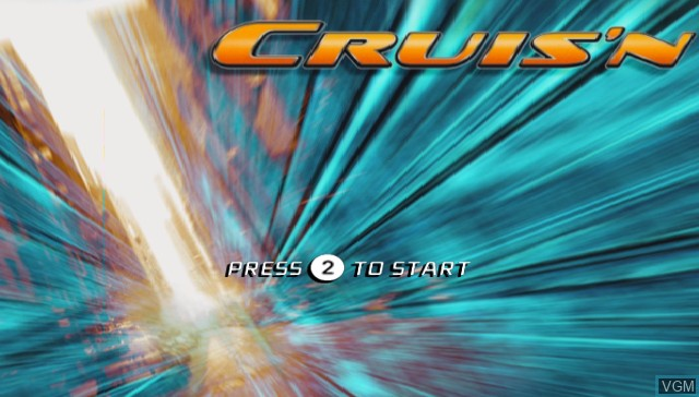 Title screen of the game Cruis'n on Nintendo Wii