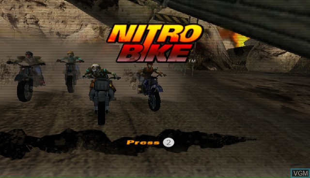 Title screen of the game Nitrobike on Nintendo Wii