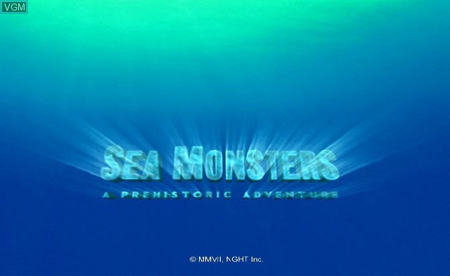 Title screen of the game Sea Monsters - A Prehistoric Adventure on Nintendo Wii