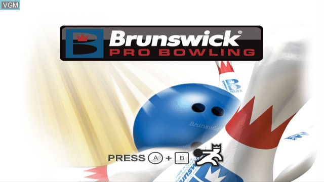 Title screen of the game Brunswick Pro Bowling on Nintendo Wii