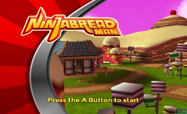 Title screen of the game Ninjabread Man on Nintendo Wii