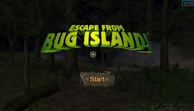 Title screen of the game Escape from Bug Island on Nintendo Wii