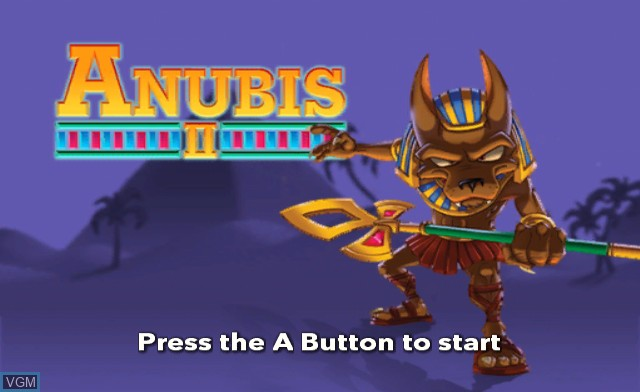 Title screen of the game Anubis II on Nintendo Wii