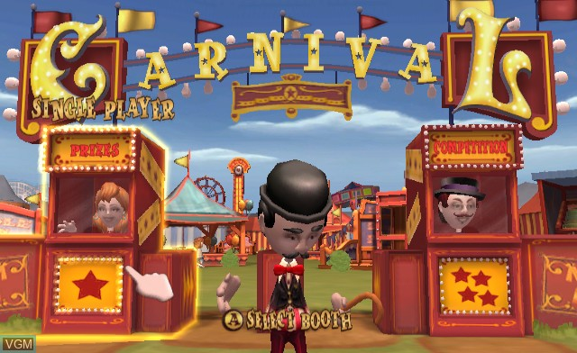 Title screen of the game Carnival Games on Nintendo Wii