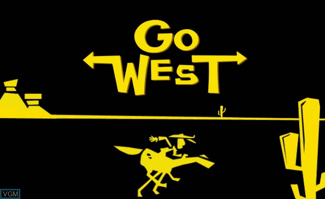 Title screen of the game Go West! A Lucky Luke Adventure on Nintendo Wii