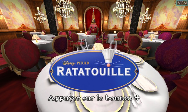 Title screen of the game Ratatouille on Nintendo Wii