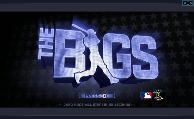 Title screen of the game Bigs, The on Nintendo Wii