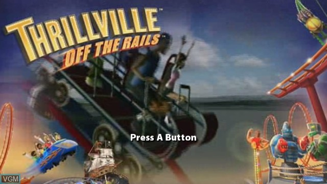 Title screen of the game Thrillville - Off the Rails on Nintendo Wii